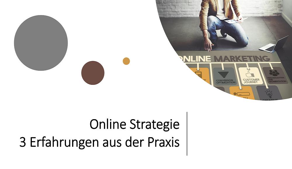 Ein Marketingexperte zeigt auf eine Fläche mit Online Marketing Elementen und arbeitet an einer Marketing Strategie