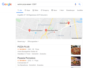 Google Maps oder Google MyBusiness - Einträge führen oft ebenfalls zu 0 Click